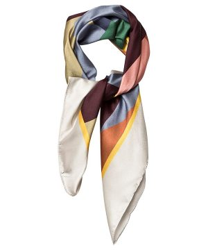The Animals Observatory Ray Scarf Multicolor Geometric One Size