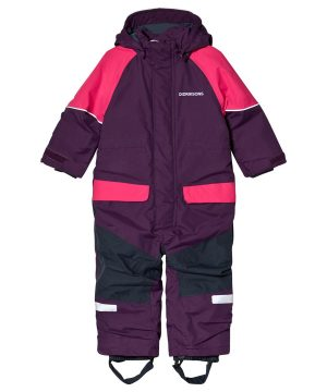 Didriksons Bille Kids Overall Berry Purple 110 (4-5 år)