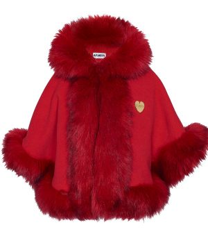 Bandit`s Girl Faux Fur Cape Röd XL (10-12+ år)