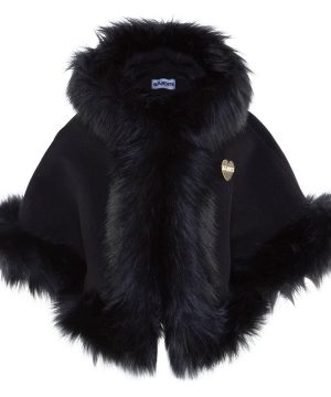 Bandit`s Girl Faux Fur Cape Svart XL (10-12+ år)