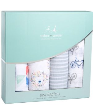 Aden + Anais 4 Pack of Leader of The Pack Classic Swaddles One Size