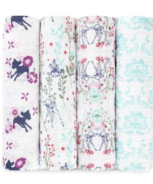 Aden + Anais 4-Pack Disney Bambi Classic Swaddles One Size