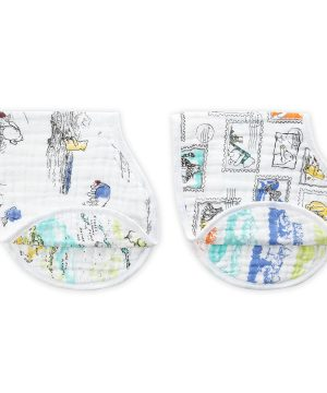 Aden + Anais 2-Pack Nalle Puh Classic Burpy Bibs One Size