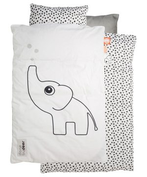 Done by Deer 80x100 Prickigt Baby Bäddset Vit – Norge One Size