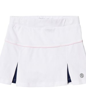 Poivre Blanc Inverted Pleat Tennis Skort Vit/Marinblå 10 år