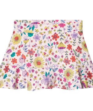 Lands' End Floral Kjol Vit 5-6 år