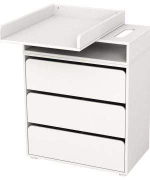 Flexa Furniture Changing Table with 3 Drawers White One Size