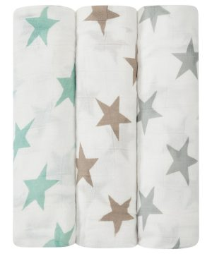 Aden + Anais 3-Pack Milky Way Silky Soft Swaddles One Size