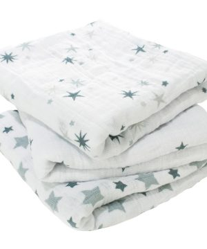 Aden + Anais 3-Pack Twinkle Classic Tvättlappar One Size