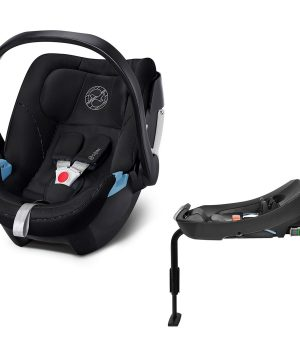 Cybex Aton 5 Babyskydd Urban Black med Bas 2-Fix One Size