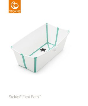 Stokke Flexi Bath® Bundle Tub White/Aqua Med Newborn Support One Size