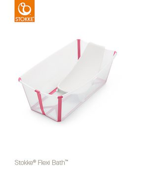 Stokke Flexi Bath® Bundle Tub with Support Transparent/Pink One Size