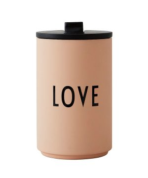 Design Letters Love Thermo Kopp Rosa One Size