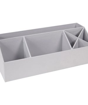 Bigso Box of Sweden Elisa Desktop Organizer Silver Grey One Size