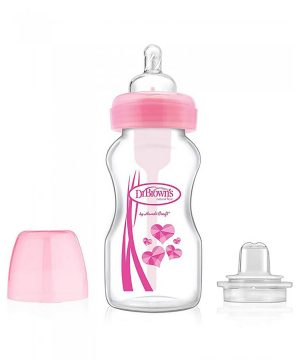 DrBrown's Options™ Wide-Neck 2-in-1 Transition Bottle Kit Rosa One Size