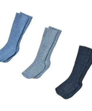 United Colors of Benetton 3-Pack Blue and Navy Knitted Socks 62 (3/6 mån)