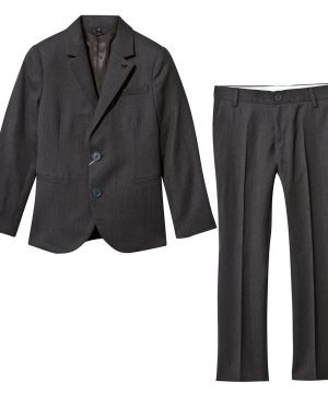 Emporio Armani Charcoal Wool 2 Button Suit 4 år